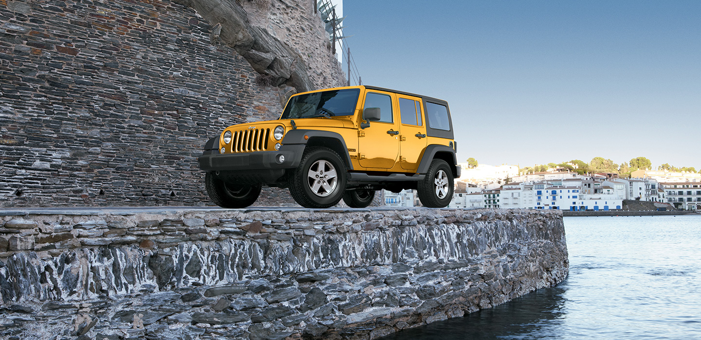 Yellow Jeep Wrangler Unlimited Off-road