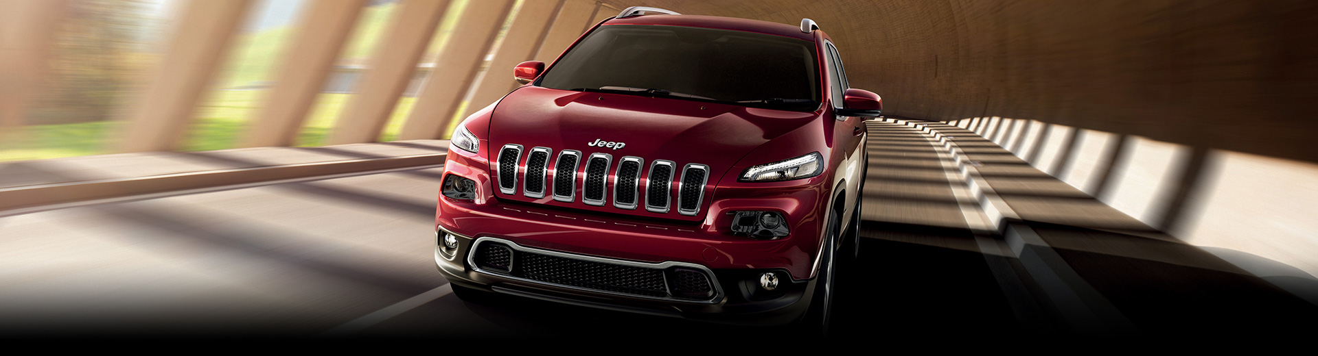 Red Jeep Cherokee